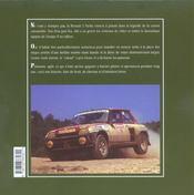 R5 Turbo - 4ème de couverture - Format classique