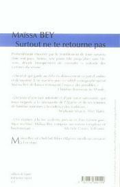 Surtout Ne Te Retourne Pas - 4ème de couverture - Format classique