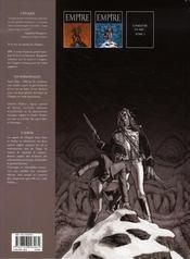Empire t.2 ; Lady Shelley - 4ème de couverture - Format classique