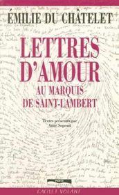 Lettres d amour au marquis de - Intérieur - Format classique