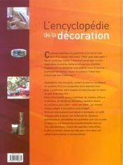 L'encyclopédie de la décoration - 4ème de couverture - Format classique