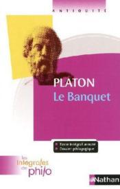 Platon ; le banquet - Couverture - Format classique