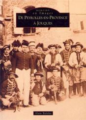 De Peyrolles-en-Provence à Jouques - Couverture - Format classique