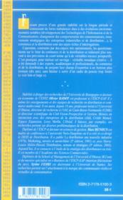 Commerce Et Distribution ; Prospective Et Strategie - 4ème de couverture - Format classique