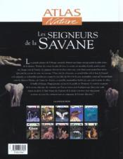 Les Seigneurs De La Savane - 4ème de couverture - Format classique