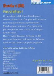Boule & Bill ; pas si bêtes ! - 4ème de couverture - Format classique
