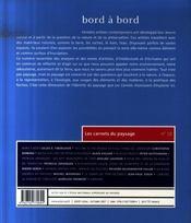 Les carnets du paysage t.15 ; entrée des artistes - 4ème de couverture - Format classique