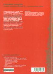Comptabilité manageriale 2 - 4ème de couverture - Format classique