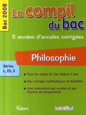 Compil Bac ; Philosophie ; Bac 2008 - Intérieur - Format classique