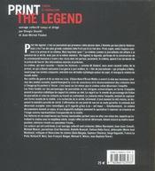 Print the legend ; cinéma et journalisme - 4ème de couverture - Format classique
