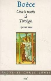 Courts traites de theologie - Couverture - Format classique