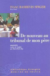 De Nouveau Au Tribunal De Mon Pere (Souvenirs) - Intérieur - Format classique