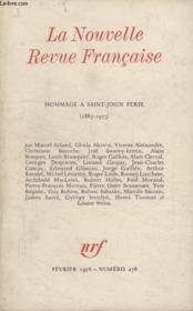 Collection La Nouvelle Nouvelle Revue Francaise N° 278. Hommage A Saint John Perse 1887 1975. - Couverture - Format classique