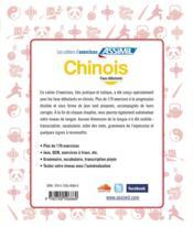 Chinois ; faux-débutants - 4ème de couverture - Format classique