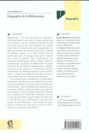 Geographie De La Mediterranee - Couverture - Format classique