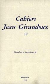 Cahiers Jean Giraudoux T.19 - Intérieur - Format classique