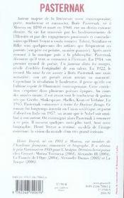 Boris Pasternak - 4ème de couverture - Format classique