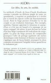 La trame conjugale ; analyse du couple par son linge - 4ème de couverture - Format classique