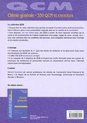 Chimie generae 300 qcm et exercices - pod - 4ème de couverture - Format classique
