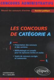 Les Concours De Categorie A Fonction Publique Concours Administratifs Presentation Methodologie - Couverture - Format classique
