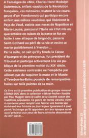 Moi, charles henri rodolph duterreaux, enfant vaudois de la revolution francaise - 4ème de couverture - Format classique