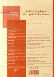 Revue Medievales T.52 ; Le Livre De Science, Du Copiste A L'Imprimeur - 4ème de couverture - Format classique
