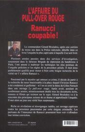 L'affaire du pull-over rouge, ranucci coupable - 4ème de couverture - Format classique