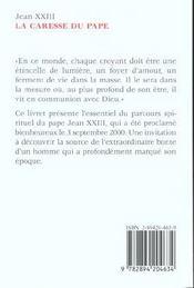 La Caresse Du Pape - 4ème de couverture - Format classique