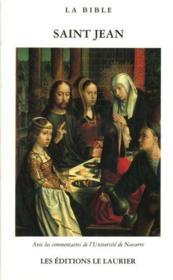 L'evangile selon saint jean - Couverture - Format classique