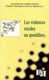 Les violences rurales au quotidien - Couverture - Format classique