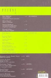 Revue Pylone N.3 - 4ème de couverture - Format classique