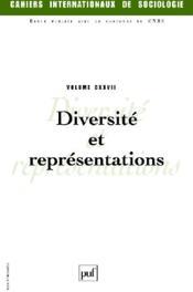 CAHIERS INTERNATIONAUX DE SOCIOLOGIE N.127 ; diversité et représentations - Couverture - Format classique