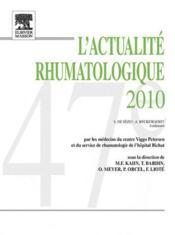 L'actualité rhumatologique 2010 - Couverture - Format classique