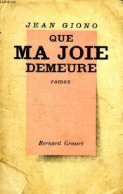 Que Ma Joie Demeure. - Couverture - Format classique