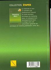 Marketing Direct - 4ème de couverture - Format classique