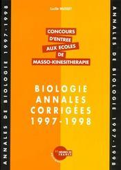 Annales De Biologie 97/98 - Intérieur - Format classique