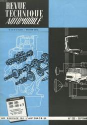 Revue Technique Automobile - N°233 - Couverture - Format classique