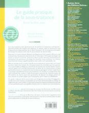 Le guide pratique de la sous-traitance ; savoir se faire payer - 4ème de couverture - Format classique