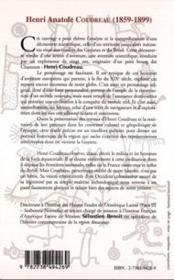 Henri Anatole Coudreau 1859-1899 ; Dernier Explorateur Francais En Amazonie - 4ème de couverture - Format classique