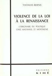 Violence de la loi a la renaissance - Intérieur - Format classique