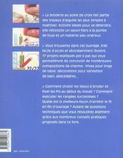 ET SI J'APPRENAIS T.17 ; le point de croix - 4ème de couverture - Format classique
