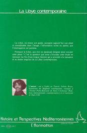 La Libye Contemporaine - 4ème de couverture - Format classique