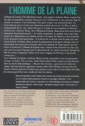 Homme de la plaine (l) - 4ème de couverture - Format classique