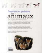 Dessiner et peindre les animaux - 4ème de couverture - Format classique