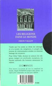 Les Religions Dans Le Monde - 4ème de couverture - Format classique