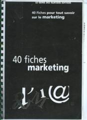 Fiches Marketing - Couverture - Format classique