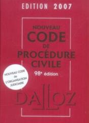 Nouveau code de procédure civile (édition 2007) - Couverture - Format classique