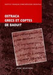 Ostraca grecs et coptes de Baouit - Couverture - Format classique