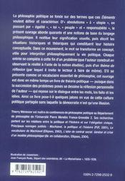 Éléments de philosophie politique - 4ème de couverture - Format classique