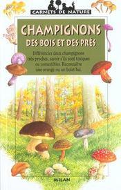 Les champignons des bois et des pres - Intérieur - Format classique